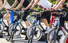 Spinning race (Brother's Art) Tags: adult exercising people sport smiling active bike body class club exercise female fit fitness group gym happy health healthy man out physical spin spinning sports sporty training woman working workout young