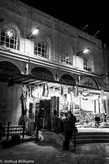 DSCF9659 (Joshua Williams' Photography) Tags: jerusalem israel bw night oldcity