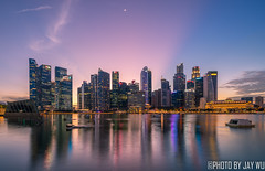 slient (jaywu429) Tags: sony singapore sonya7r sky skyline sonycamera singaporeriver sunset sony1635mmf4 sun city cityscape landscape lights longexposure buildings outdoor moon pink bluehour clouds marinabay sg dusk twilight