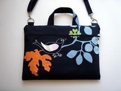 "Laptop Bag 15"" All-in-One Blue Bird (Babimini) Tags: handmade etsy sleeve laptopbag babimini"