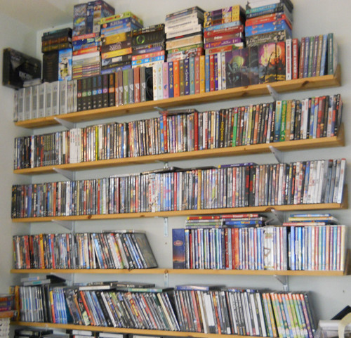 our dvd blu ray collection on custom shelves a photo on flickriver rh flickriver com CD and DVD Shelves CD Storage Shelves and Bookcases