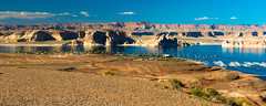 Lake Powell (b.campbell65) Tags: park travel blue sunset red arizona sky cliff usa mountain lake southwest west nature water beautiful america river point landscape photography utah rocks colorful butte day view desert native postcard indian united scenic dramatic sunny landmark tourist canyon glen erosion formation mount national valley edge area sacred land vista powell recreation states wilderness navajo attraction abyss
