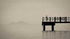 Calma (Hernan Piera) Tags: blanco fog canon muelle mar mediterraneo day y negro calm soledad crema marbella tono bestcapturesaoi elitegalleryaoi blinkagain dblringexcellence tplringexcellence