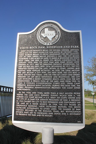 dallas texas historic whiterocklake dallascounty texashistoricalmarker
