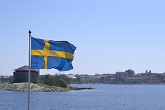 Swedish blue (Lo766) Tags: blue summer nature 50mm town nikon sweden flag sunny odc 2013 karlsrona odc2 ourdailychallenge lo766