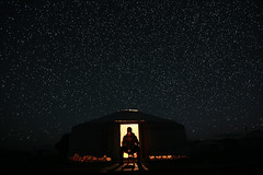 * Ger and Desert night. (Wook..) Tags: travel night canon stars star mongolia nightsky ger canon24105 flickrtravelaward 5dmark3
