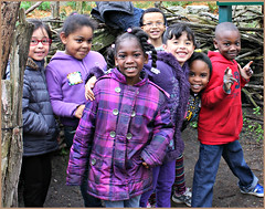 in the eagles nest (ThroughMyEyes_JKM) Tags: school kids children indiana fieldtrip washingtonparkzoo michigancityin
