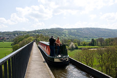 Pontcysyllte Aqueduct 4 (Alastair Cummins) Tags: bridge sunset england water wales marina train reflections river cow boat canal geese scenery steps railway tunnel goose steam float nationaltrust riverdee chirkcastle aqauduct nikond90