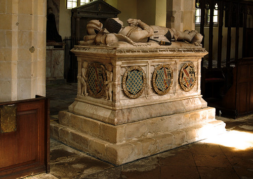 Stanford on Avon, Northamptonshire, monument to Sir Thos. Cave †1558 & his wife Elizabeth