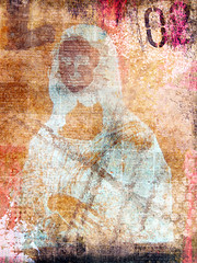 Mona (angelandspot) Tags: orange collage digitalart lisa mona angelandspot