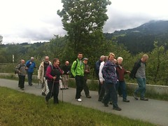 A Crystal Walking Group on the way to Oberndorf (Crystal Summer) Tags: summer mountain tree green field st river walking fun happy kitzbuhel track exercise crystal path walk group social trail thomson 13 johann ramble rambling socialise 2013 kitzbuhelerhorn