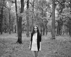 Irina (Alexey Frolov) Tags: portrait bw woman mamiya film nature girl 6x7 ilford rz67 2013