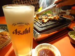 TGIF! Beer & Yakiniku! @Stamina-En, Hongmeilu, Shanghai (Phreddie) Tags: china food beer night japanese restaurant yum shanghai beef bbq meat eat korean barbecue friday tgif yakiniku staminaen 130524