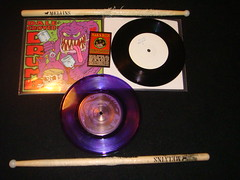 melvins dale crover drumb test pressing and signature sticks. (old ernie) Tags: