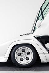 Lamborghini Countach in White (j.hietter) Tags: california white detail car part lamborghini countach partial lamborghinicountach