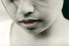 (alt.identity) Tags: red thread inspired lips sewn mysisterwaskindenoughtomodel