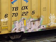 Zroe (towardsthesun) Tags: train graffiti freight batle 663k batler