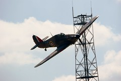 Hawker Hurricane (MJ_100) Tags: show plane airplane flying fighter display aircraft aviation military hurricane wwii aeroplane airshow ww2 raf hawker throckmorton royalairforce 2013