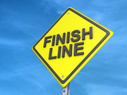 Finish Line Yield Sign