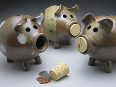 Wood fired Piggy Banks (meesh327) Tags: ceramic pig bank northcarolina pottery piggybank seagrove woodfired