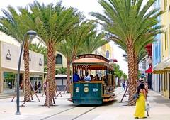 Tram, Oranjestad, Aruba: On completed street track in Caya Betico Croes (Mega Anorak) Tags: tram aruba caribbean streetcar tramway trolleycar netherlandsantilles oranjestad tramcar abcislands cayabeticocroes