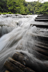 Steps in water.. :) (Robyn Hooz) Tags: park wood ex water canon eos steps croatia sigma acqua 1020 legno plitvice hsm 550d