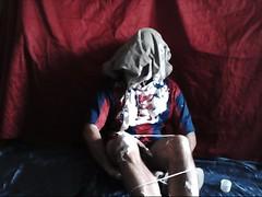 Messy stupidity (Baggyboilersuit) Tags: idiot bondage shorts humiliation gunge