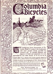 Ladies Home Journal, Columbia Bicycle, 1896 (FinanceMuseum) Tags: bicycle advertisement ladieshomejournal 1896