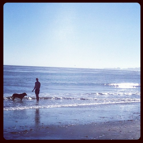 Fred & friend on More Mesa Beach #santabarbara