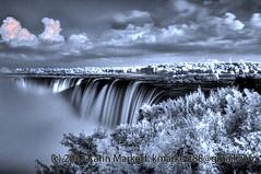 Niagara Falls IR HDR (KLMP) Tags: red ontario canada high dynamic niagara falls horseshoe range infra hdr naigarafalls