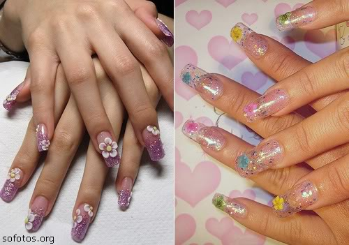 Unhas decoradas de gel