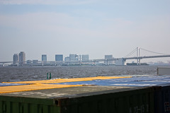 Containers (Ayrcan) Tags: city bridge urban japan island tokyo rainbow asia capital metropolis odaiba honshu