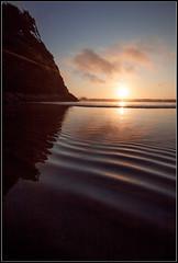 Sunset Ripples_bordered (Lauren Heinatz) Tags: ocean sunset canon reflections seascapes neskowinoregon oceanlandscapes
