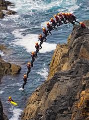 Just for fun (peter.menear) Tags: jumping cornwall coasteering