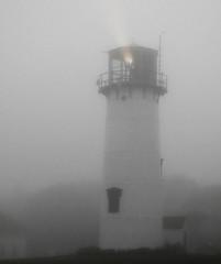 Light The Way On A Foggy Day (John Kocijanski) Tags: light blackandwhite lighthouse building capecod selectivecolor canong15