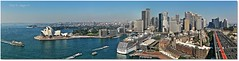 S P L E N D O U R (Mark B. Imagery ) Tags: city cruise urban panorama color colour water geotagged boats photography flickr ship harbour sydney australia circularquay panoramic freeway nsw cbd sydneyharbour ferrie sydneyoperahouse sydneyharbourbridge bradfieldhighway dawespoint harbourbridgepylon markbimagery