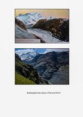 Alpine glacier. Gone (Vibrimage) Tags: switzerland swing zermatt matterhorn peaks climate globalwarming valais breithorn ipcc glacialvalley 4000m glacialretreat bodenglacier bodengletsher groundglacier
