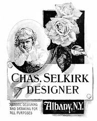 chas. selkirk designer  vintage ad albany ny (albany group archive) Tags: old albany historic ny vintage designer ad chas selkirk 1800s oldalbany history