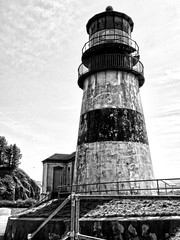 Cape Disappointment Lighthouse - BW