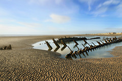 "Bones of the ""Abana"" (PentlandPirate of the North) Tags: holiday beach sailing ship decay lancashire norwegian wreck blackpool barque cleveleys fylde bispham abana"