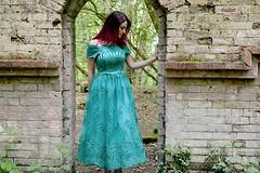 CHI CHI ALLEGRA DRESS (danielledidwhatblog) Tags: church fashion dress teal ruin tattoos chi pinkhair allegra