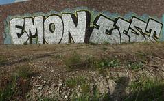 EMON . LIST (mkorsakov) Tags: wall silver graffiti wand list dortmund silber oms emon hrde rombergpark hacheney