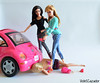 Rivalry (violetcazador) Tags: pink car dark perfect funny dolls barbie humour subversive attacked violent bitchy