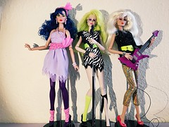 The misfits  (trulytrulyoutrageous) Tags: integritytoys fashionroyalty themisfits jemandtheholograms jem stormer pizzazz roxy