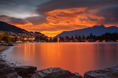 Autumn Sunrise In Queenstown || SOUTH ISLAND || NZ (rhyspope) Tags: queenstown nz new zealand south island lake wakatipu rhys pope rhyspope canin 5d mkii sunrise sunset weather sky clouds