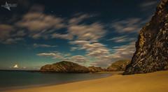 Moon Light in Murder Hole Bay (Mr Bultitude) Tags: moon light murder hole bay donegal ireland surreal night nighttime time stars beach cove cliffs wild atlantic way