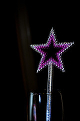 Star in bottle (MartinHots) Tags: glass star shine shadow dark gem night evening purple refelction