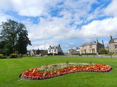 Grant Park, Forres, Morayshire, August 2016, Explored (allanmaciver) Tags: grant park forres moray colours red ble clouds houses trees volunteers allanmaciver town awards flowers beds