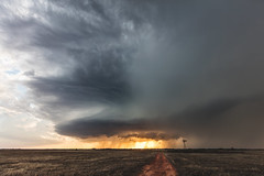 Nash Oklahoma Supercell (Kelly DeLay) Tags: stormchasing sky weather weatherphotography epicsky sunset oklahoma
