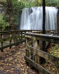 Hayden Falls (MatthwJ) Tags: waterfall hayden run falls dublin columbus ohio boardwalk rain leaves